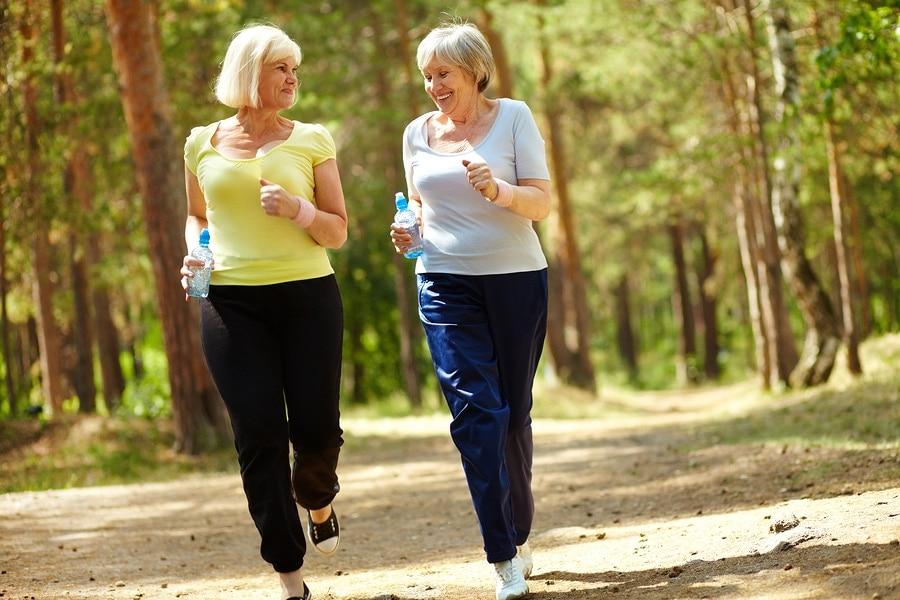 Two Women Jogging Exercising