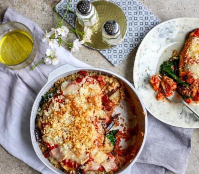 Cheesy Quinoa Vege Bake Morocco Gold