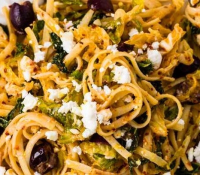 Linguine with savoy cabbage