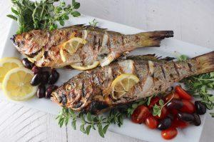 Greek Styled Roasted Fish