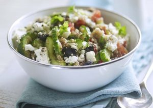 Greek Quinoa Salad with Morocco Gold Extra Virgin Olive Oil