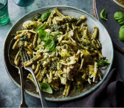 Chicken Pesto Pasta With Extra Virgin Olive Oil