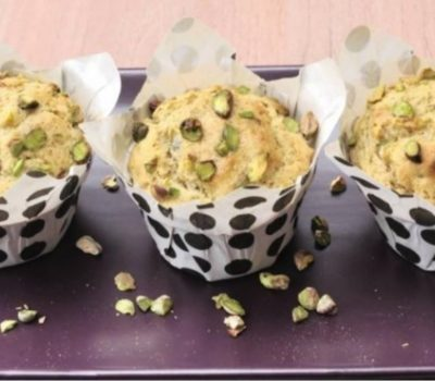 Extra Virgin Oilve Oil And Pistachio Muffins