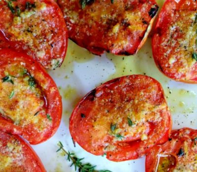 Garlic Grilled Tomatoes With Extra Virgin Olive Oil