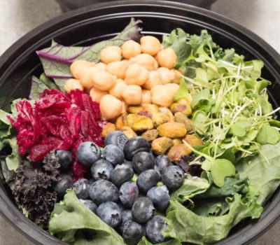Gut Healthy Salad Bowl With Extra Virgin Olive Oil