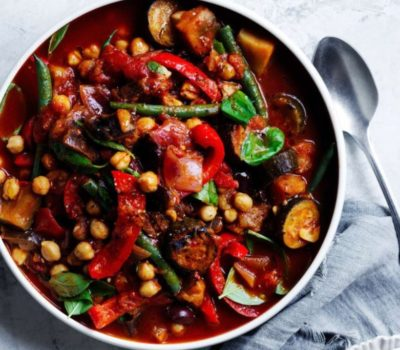 Chickpea Ratatouille With Extra Virgin Olive Oil