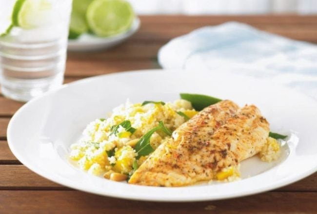 Chargrilled Moroccan Fish Fillets With Coucous Salad