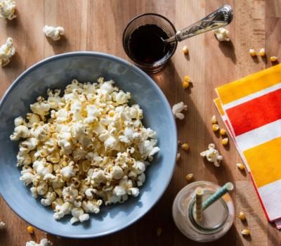 Extra Virgin Olive Oil On Popcorn
